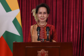 State Counsellor Daw Aung San Suu Kyi reports to people regarding COVID situation