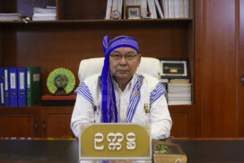 New Year Greetings by Amyotha Hluttaw Speaker Mahn Win Khaing Than