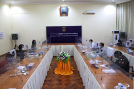 Union Minister U Thein Swe receives UNHCR  Resident Representative