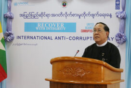 Union Chief Justice U Htun Htun Oo' speech at ceremony marking  International Anti-Corruption Day