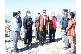 VP U Henry Van Thio inspects construction of Lailenpi airstrip in Matupi Township