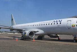 MAI receives new Embraer E 190-100 LR XY-ALP aircraft