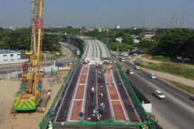 Construction of Thanlyin Bridge-3 completed almost 83% on Thakayta side