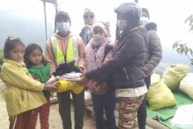 Well-wishers donate winter clothing for locals in Naga Hills