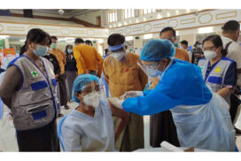 COVID-19 vaccination programme starts in Mandalay