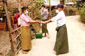 5th Mya Sein Yaung project loan disbursed in Minyat village, Kyaukpyu