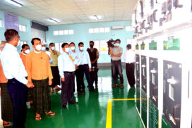 Phaunggyi, Aikalaung electrical substations officially opened