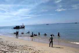Many tourists visit Kimmon Chone Beach in Thayetchaung Township, Dawei