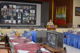Union Minister Dr Myint Htwe discusses participation of artistes in COVID-19 response efforts