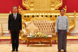 President U Win Myint receives Chinese State Councilor and Foreign Minister