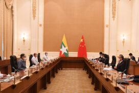 Union Minister U Kyaw Tint Swe holds meeting with Chinese State Councilor and Foreign Minister Mr Wang Yi