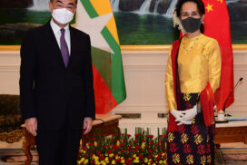 State Counsellor discusses fostering bilateral relations with Chinese State Councilor and Foreign Minister