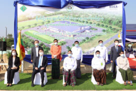 Groundbreaking ceremony of Agricultural Marketing Centre held in Nay Pyi Taw