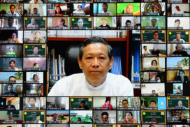 Union Minister Dr Myo Thein Gyi gives lecture in School Management Capacity Building Course