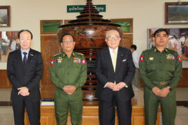 MoBA Union Minister receives Chairman of Japan-Myanmar Association