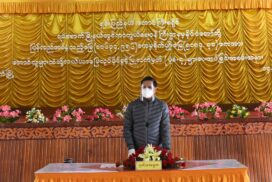 VP U Henry Van Thio attends ceremony to return confiscated lands to locals in Yaksawk Township