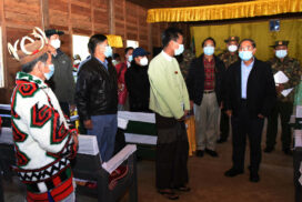 Vice-President U Myint Swe inspects development projects  in Kachin State
