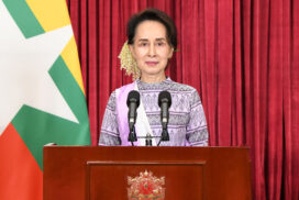 State Counsellor makes public speech on COVID-19 vaccination programme of Myanmar