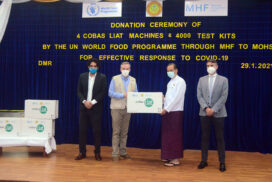 WFP donates lab equipment for MoHS