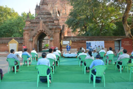 COVID-19 prevention guidelines to be applied in phase-by-phase reopening of Bagan pagodas