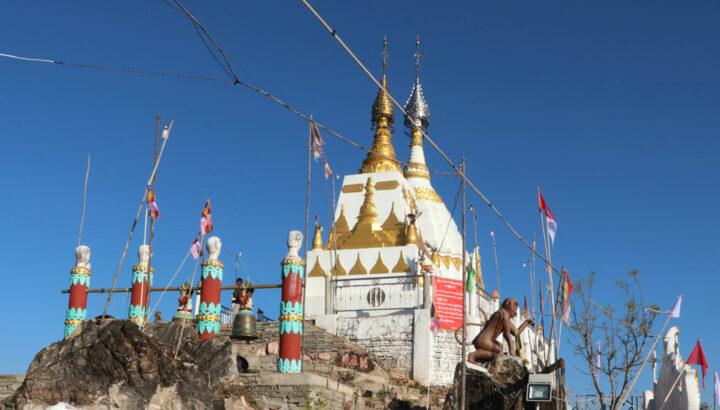 Two Buddha Stupas built on the Taung Chon mountain 72