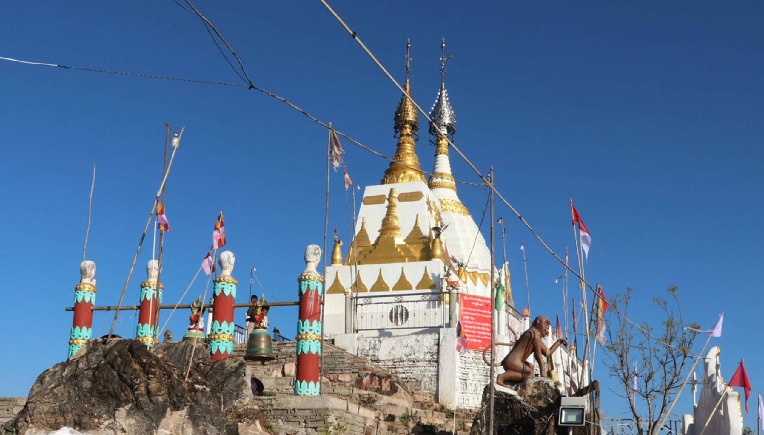Two Buddha Stupas built on the Taung Chon mountain 72 scaled