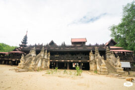 Salay Yoke Sone Monastery with variety of fascinating woodcarvings
