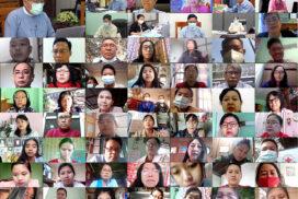 Union Minister Dr Win Myat Aye addresses community COVID volunteer training online