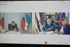 Vice-Senior General Soe Win meets Brunei's Commander-in-Chief online