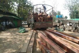 Padaung seizes illegal pyinkado lumber from vehicle