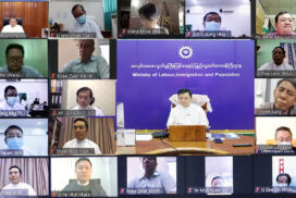 MoLIP discusses regular operation of factories in Yangon, wages for workers