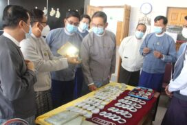 MoNREC  Minister inspects Myanmar gems and jewellery training school