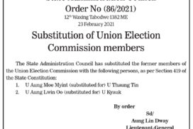 Substitution of Union Election Commission members