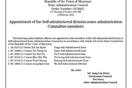 Appointment of the Self-administered division/zones administration Committee members
