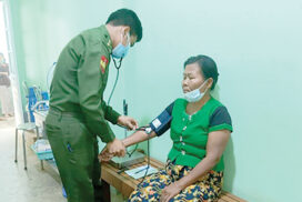 Tatmadaw medical corps provide healthcare services