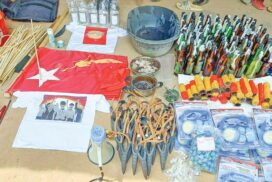 Police seize homemade weapons