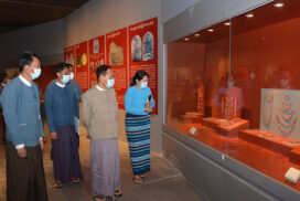 Union Minister for Religious Affairs and Culture inspects National Museum (Nay Pyi Taw)