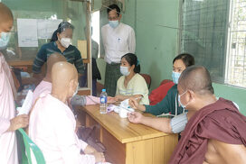 Monks, nuns, civil service personnel get immunized against COVID