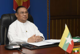 Union Minister U Wunna Maung Lwin participates in Informal ASEAN Ministerial Meeting