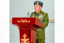 Tatmadaw has been steadfastly leading establishment and development tasks of the State, fulfilling the needs of the country: Senior General
