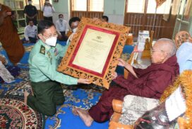 Abhidhaja Maha Rattha Guru title conferred on venerable Sayadaw