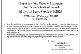 Martial Law Order 1/2021