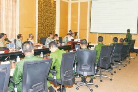 Current situation in Myanmar explained to military attachés in Nay Pyi Taw