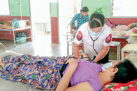 Military medical corps provide healthcare in township hospitals