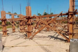 Construction of school shelter in Kani completed 35%