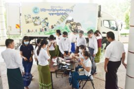 MoI launches mobile library for staff in Nay Pyi Taw