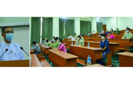 Union Minister U Khin Maung Yi holds meeting at Forestry & Environmental Science University