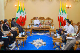 Union Minister U Aung Than Oo receives Ambassador of Malaysia in Nay Pyi Taw