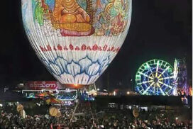Mwetaw Kakku vs. hot-air balloon festival in Taunggyi