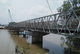 Construction of Payitaung-Wunpho bridge 85% completed in Myeik